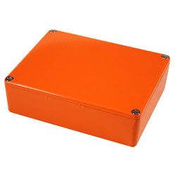 Hammond 1590XXOR Aluminium 'Stomp Box' Enclosure Orange (145 x 121 x 39mm)