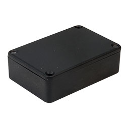 Hammond 1550PBK IP54 Diecast Aluminium Enclosure Black (80 x 55 x 25mm)
