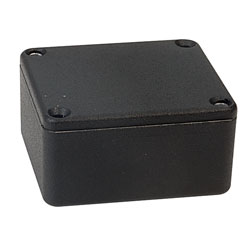 Hammond IP54 Diecast Aluminium Enclosure Black 1550QBK (60 x 55 x 30mm)