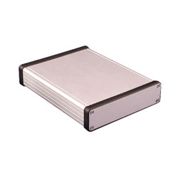 Hammond 1455P1601 Extruded Aluminium Enclosure 163 x 120.5 x 30.5mm Natural