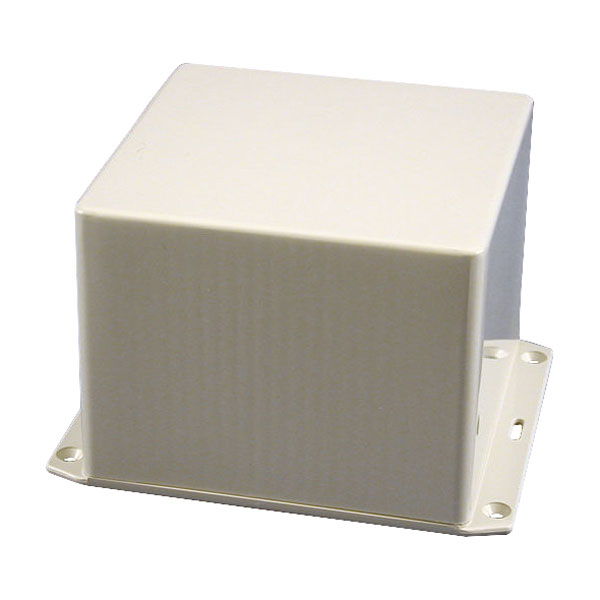 Hammond 1591VFLGY Multipurpose FRABS Enclosure Flanged Lid 120 x 120 x 94 Grey