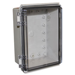 CamdenBoss CHDX8-323C X8 Series Hinged ABS Transparent Lid 185x135x85 IP66/67