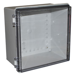 CamdenBoss CHDX8-331C X8 Series Hinged ABS Transparent Lid 300x300x180 IP66/67