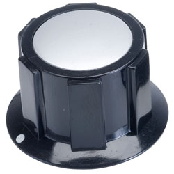 Cliff FC1616 K1C Knob Black - Satin Cap - 1/4 6.35mm Screw Fix