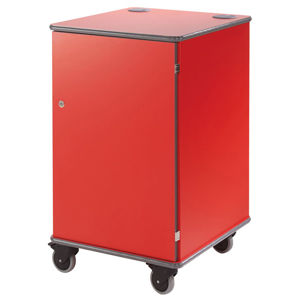 Metroplan Mm100 Coloured Mobile Multi-Media Cabinets 930x540x600mm Red