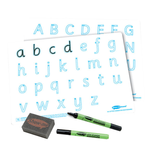 Image of Show-me Bulk Box: Letter Formation A4 Boards, Pens and Erasers