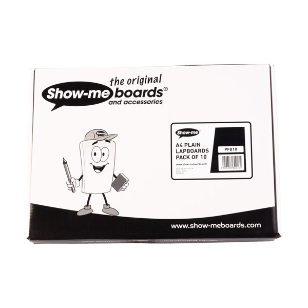 Image of Show-me A4 Rigid MDF Plain Dry Wipe Boards pack of 10