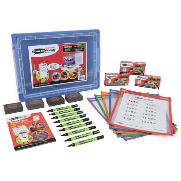 Image of 120 Piece Show-me Dry Wipe Template Pocket Class Pack