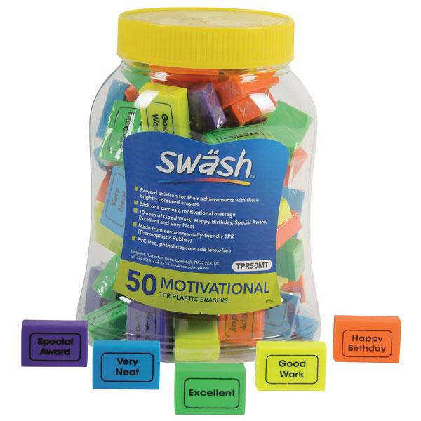 Image of Swash Tub of 50 Motivational Eraser