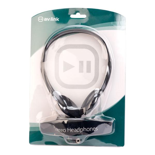 AV:Link 100.439UK SH30 Lightweight Stereo Headphones