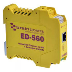 Brainboxes ED-560 Industrial Ethernet to 4 Analogue Outputs