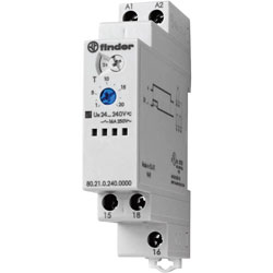 Finder 80.21.0.240.0000 16A Monofunction Modular Timer SPDT-CO 400VAC
