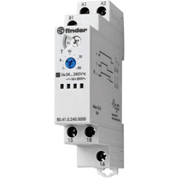 Finder 80.41.0.240.0000 16A Monofunction Modular Timer SPDT-CO 400VAC