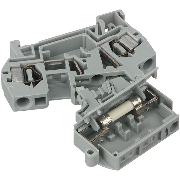 WAGO 281-611 8mm Fuse 5x20mm DIN Rail Terminal Block Grey
