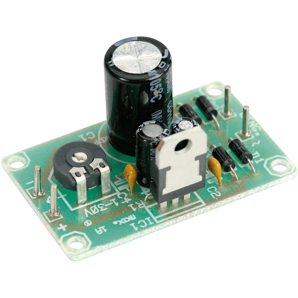 130312 PCB Voltage Regulator Kit for LM317-T 1.2-32VDC (Including ...