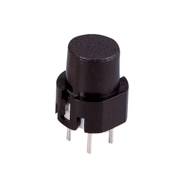 Image of Zip Switch 532.010.001 Pulse Switch Round 35 V DC 10 mA Black