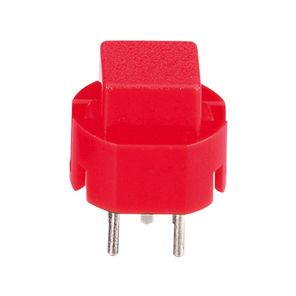 Image of Zip Switch 532.000.007 Pulse Switch D6 1x off/on 35 V DC 10 mA - Red