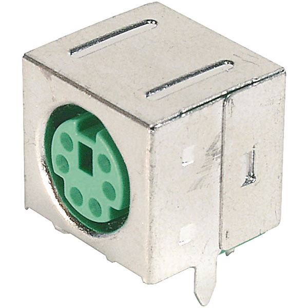 Assmann WSW A-DIO-FS06/Green Mini DIN panel mounted socket shielde...