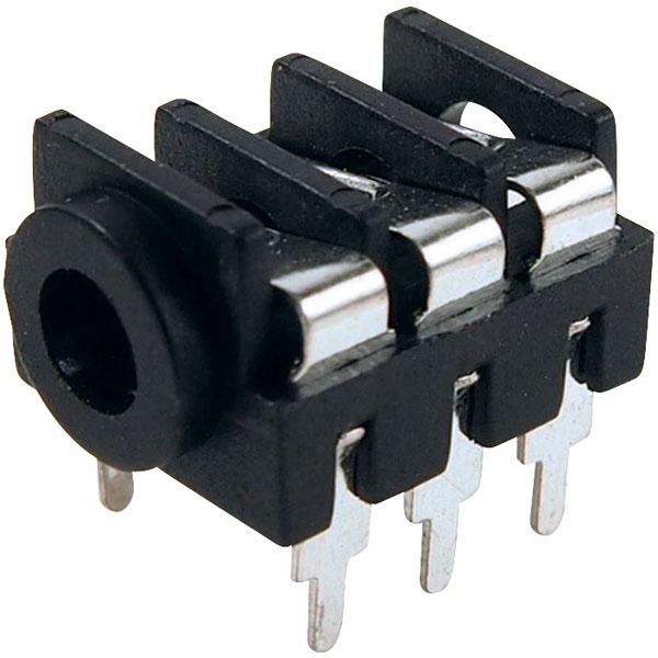 Cliff Electronic -FCR1295- JACK/SKT 3.5 mm, PCB, THT, BLK