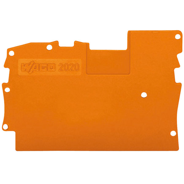 WAGO 2020-1291 1mm End and Intermediate Plate Grey