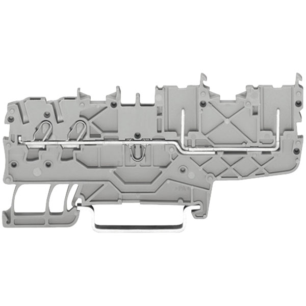 WAGO 2020-1401 2 Conductor 2 Pin Carrier Terminal Block Grey
