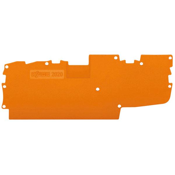 WAGO 2020-1492 1mm End and Intermediate Plate Orange