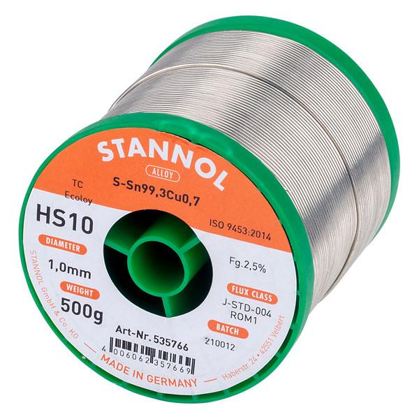 Image of Stannol 535801 Solder Wire HS10 Sn99Cu1 1.0mm 500g