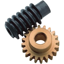 RVFM Brass Gear and Steel Worm Drive Set 1:20 (3mm bores)