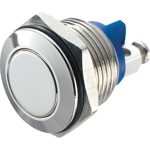 Zip Switch GQ 16F-G 16mm IP65 Vandal Resistant Switch SPST Off-On