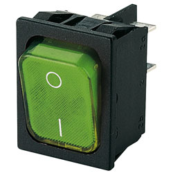 Marquardt 1835.3105 Rocker Switch DPST Off-On 250V AC 10.8A