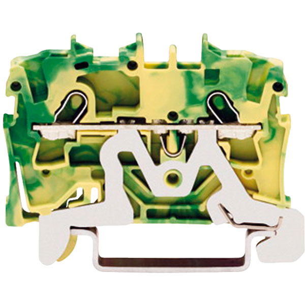 WAGO 2001-1207 2 Conductor Ex e II Ground Terminal Block Green-yellow