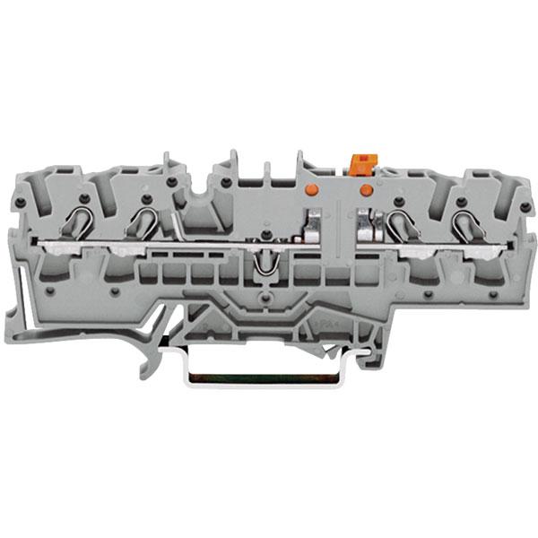WAGO 2002-1871 4 Conductor Disconnect Terminal Block Grey