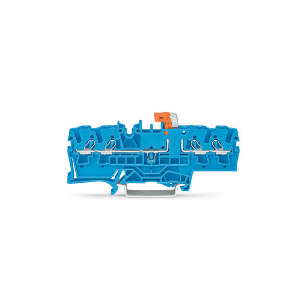 WAGO 2002-1874 4 Conductor Test Point Disconnect Terminal Block Blue