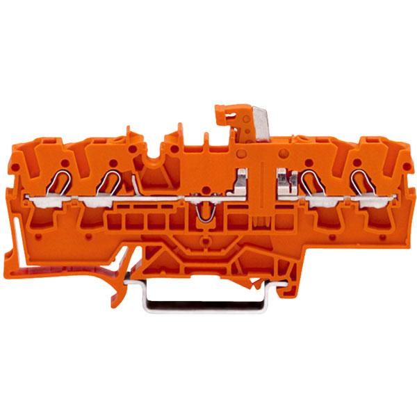 WAGO 2002-1872 4 Conductor Test Point Disconnect Terminal Block Orange