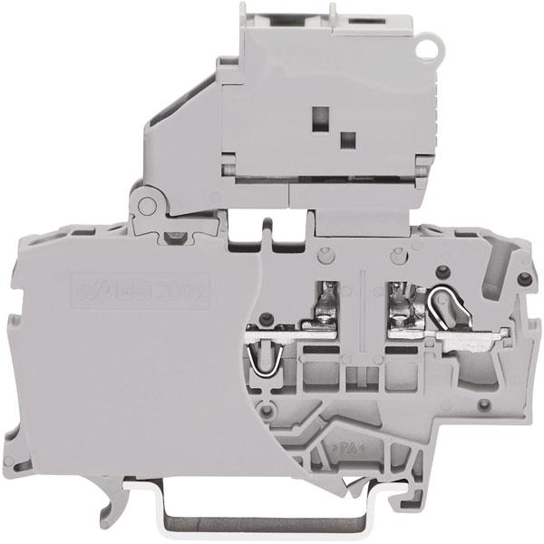 WAGO 2002-1611 2 Conductor Fuse Disconnect Terminal Block Grey