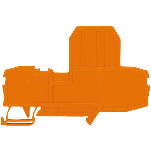 WAGO 2002-992 End Plate for Fuse Terminal Blocks Orange