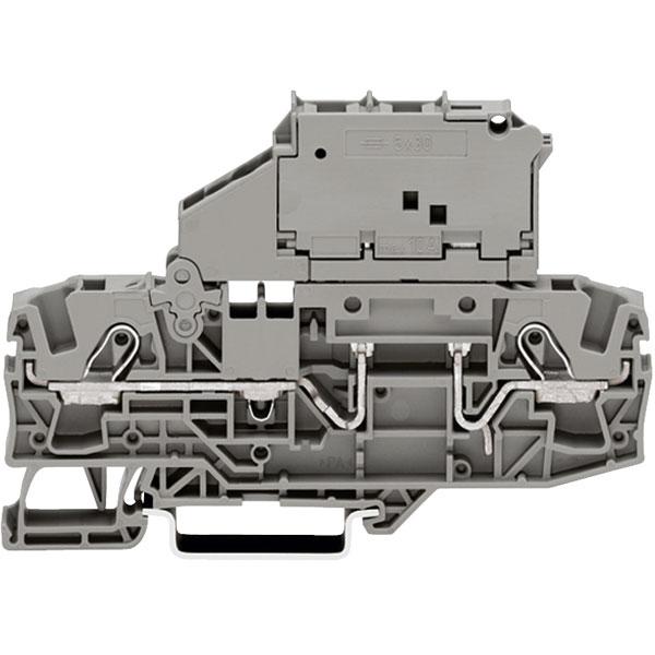 WAGO 2006-1621 2 Conductor 30mm Fuse Terminal Block Grey