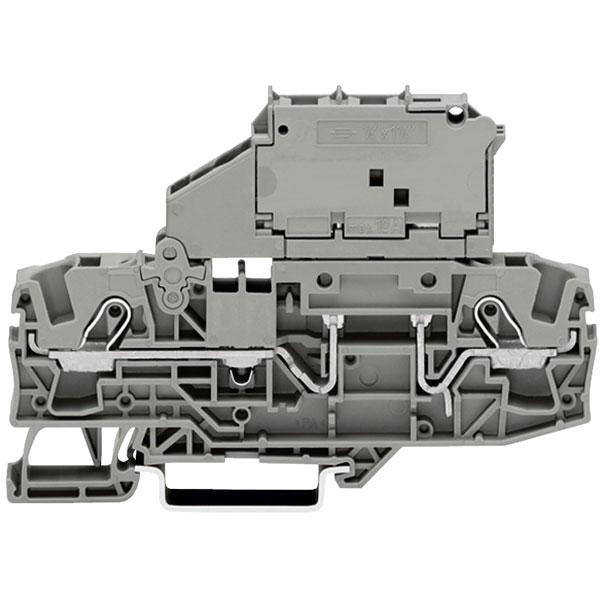 WAGO 2006-1631 2 Conductor Mini Metric Fuse Terminal Block Grey