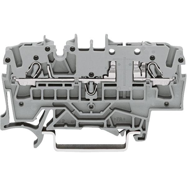 WAGO 2002-1661 2 Conductor Carrier Terminal Block Grey
