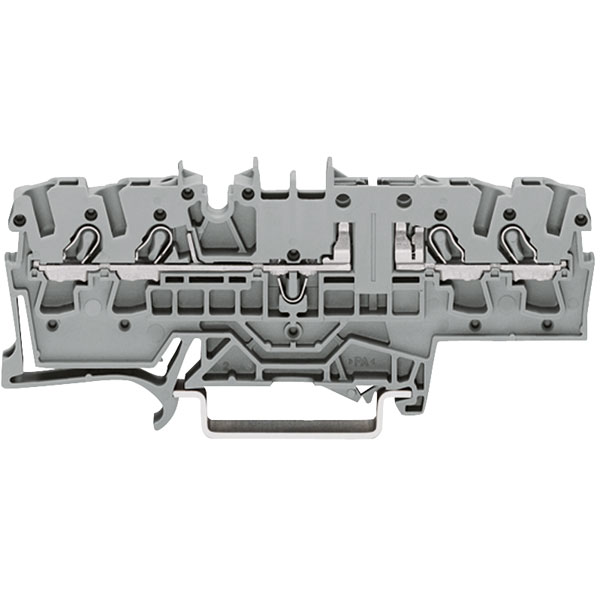 WAGO 2002-1861 4 Conductor Carrier Terminal Block Grey