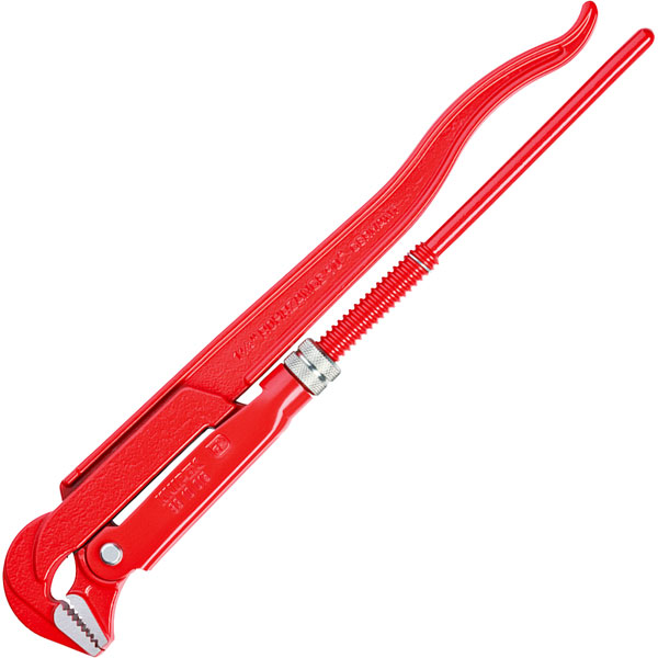 Knipex 83 10 040 Pipe Wrench 90/° red Powder-Coated 750 mm