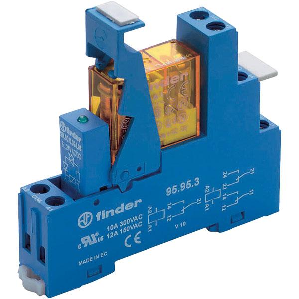 Finder 49.61.9.024.0050 Interface Relay Module 24VDC SPDT + Diode ...
