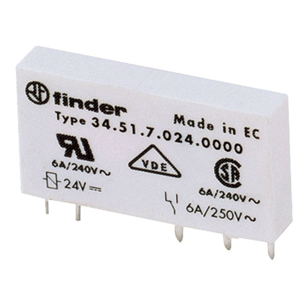 THT POWER 10A 60VDC SPDT FINDER 34.51.7.060.0010 RELAY