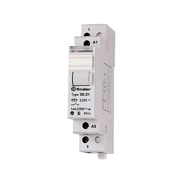 20 Series Power Relay 230 VAC SPST-NO DIN Rail 16 A