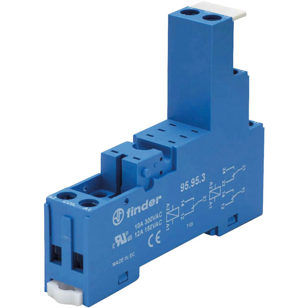 Finder 95.95.3 Relay Socket 250V 10A for 40.52 / 40.61 and 44.62 S...