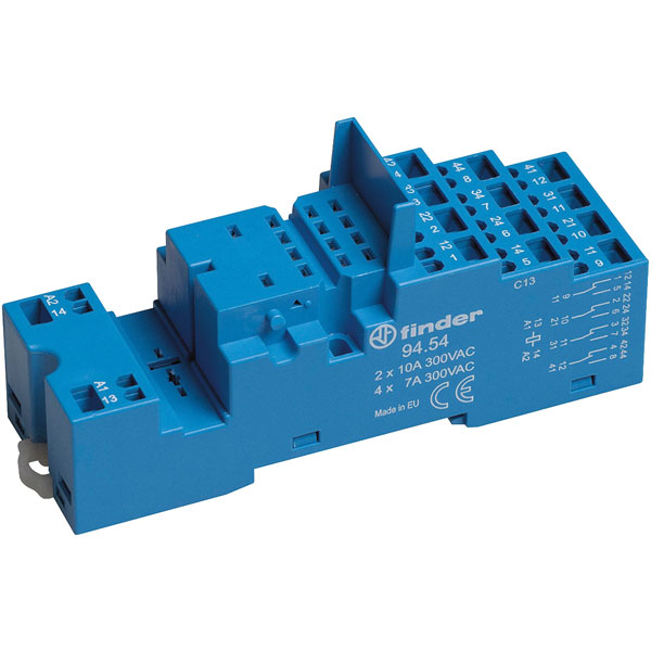 Finder 94.54.1 Relay Socket 250V 10A for 85.02 and 85.04 Series Timers