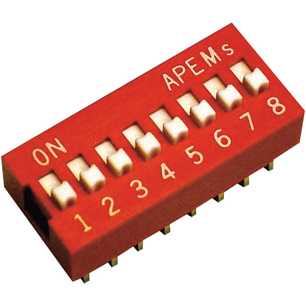 Apem DS-02 Standard DIP Switch 2 Pole