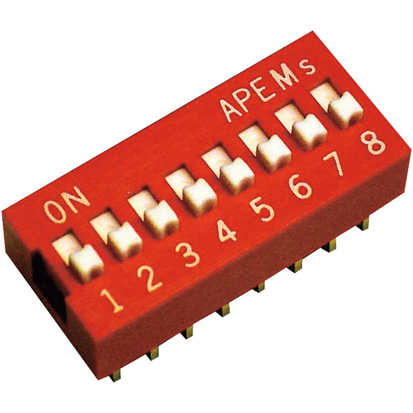 Apem DS-04 Standard DIP Switch 4 Pole