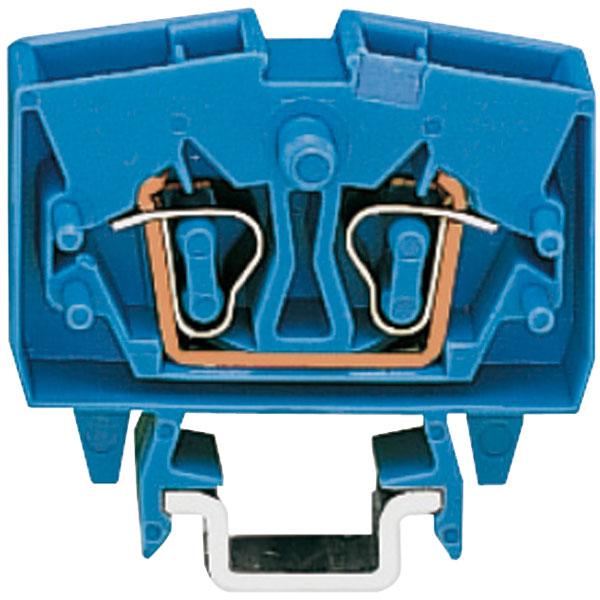 WAGO 264-704 2 Conductor 24A Miniature Through Terminal Block Blue
