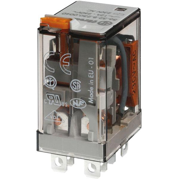 Finder 65.31.8.230.0000 Plug-in Relay 1NO 1NC Contacts 230VAC 20A